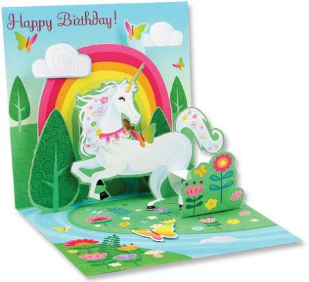 Spring Unicorn 3D Pop Up Birthday Card – The Unicorn Store