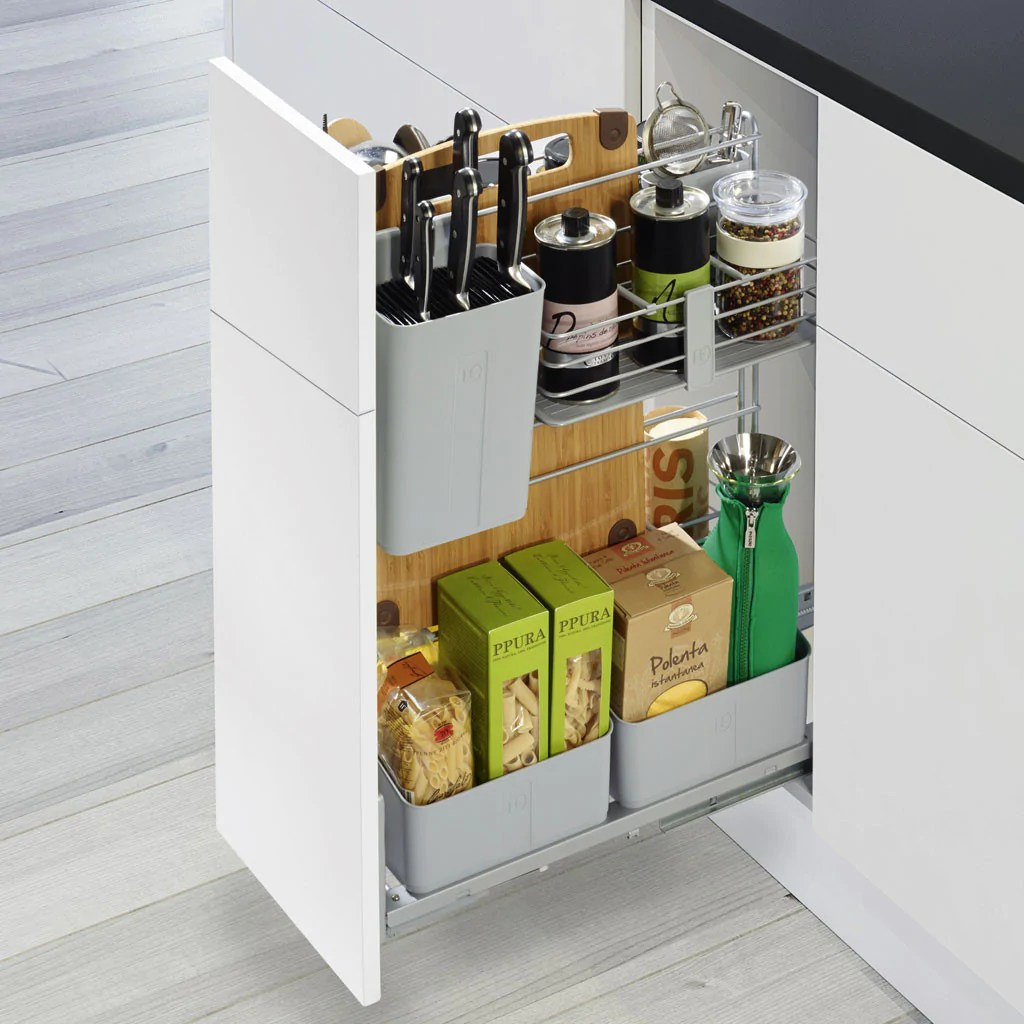 kitchen pull out shelves price to renovate cooking agent hafele home kessebohmer storage for base units