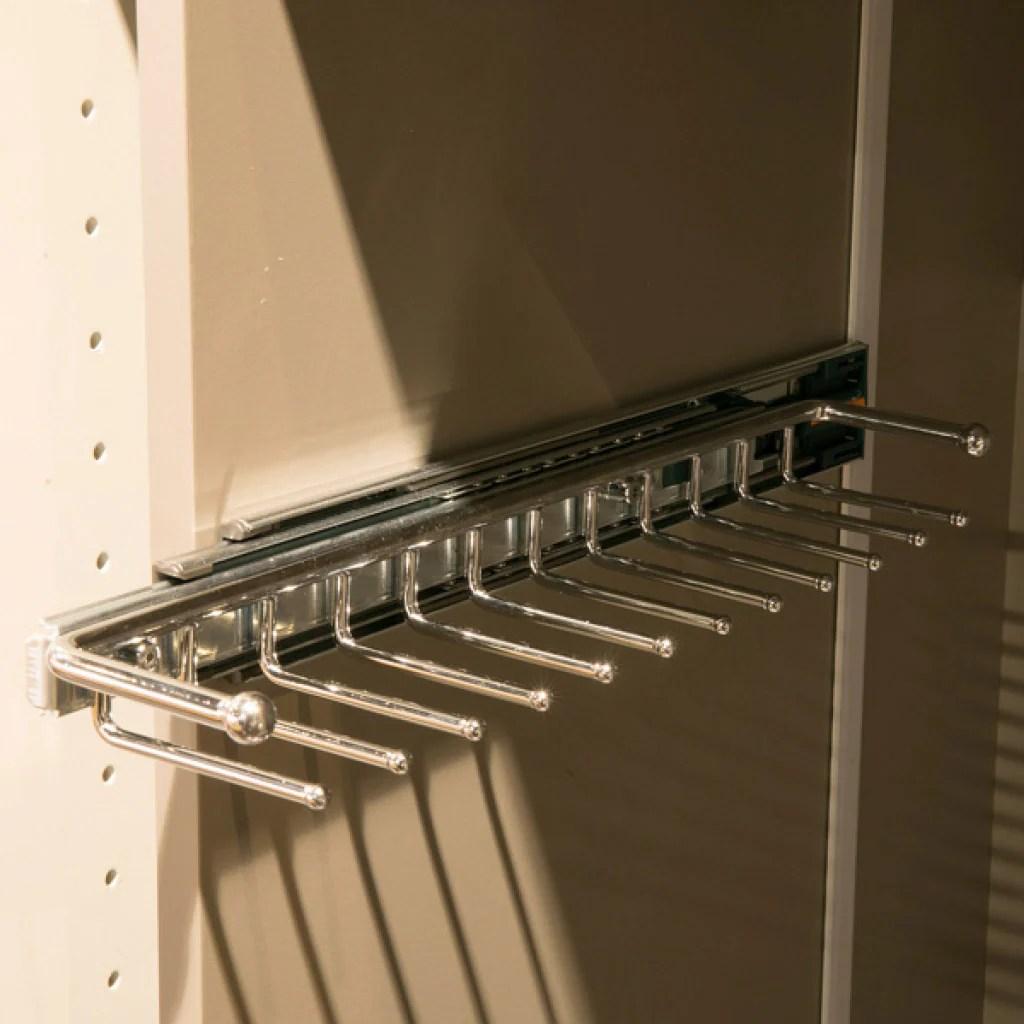 starax pull out tie rail rack