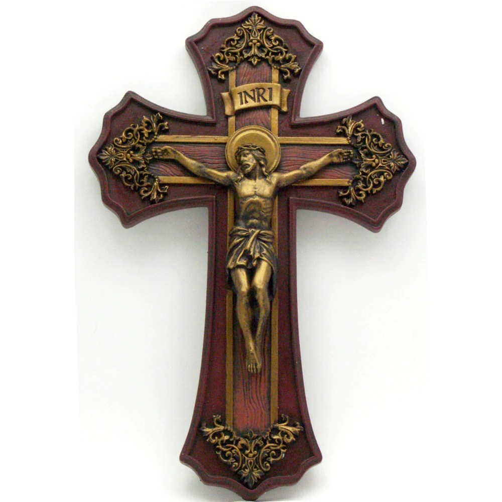 10 French Victorian Style Crucifix  Mary Immaculate Queen Center