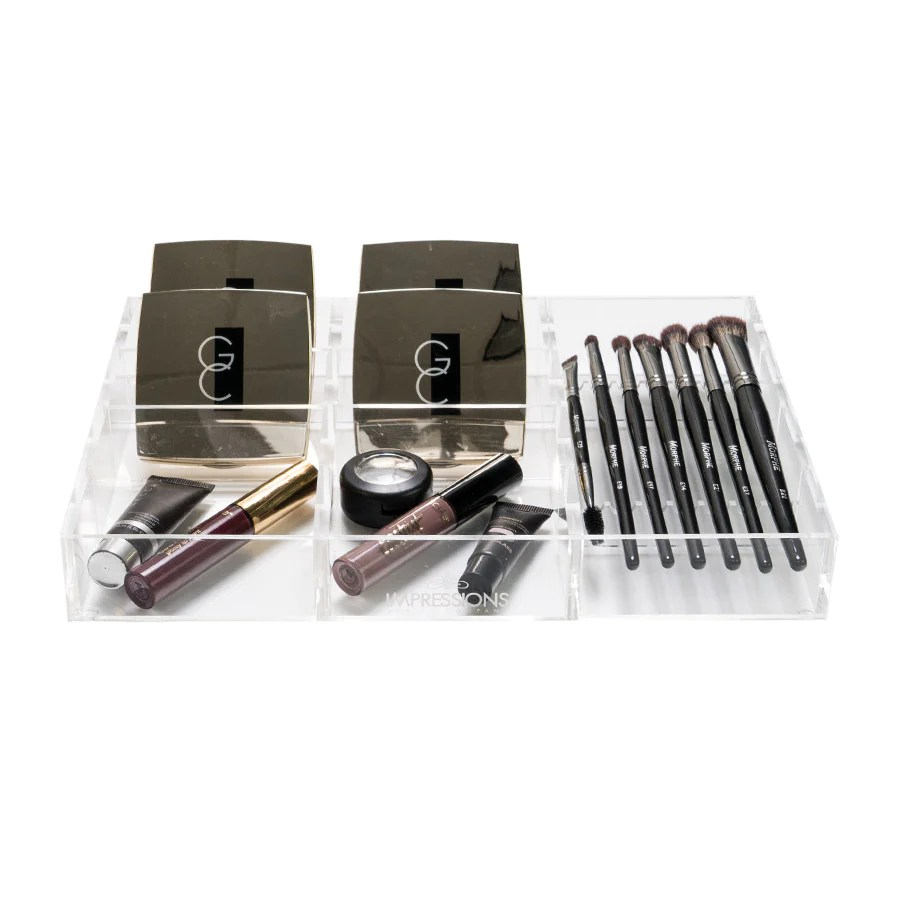 Alexa Acrylic Makeup Drawer Organizer - Adjustable Brush