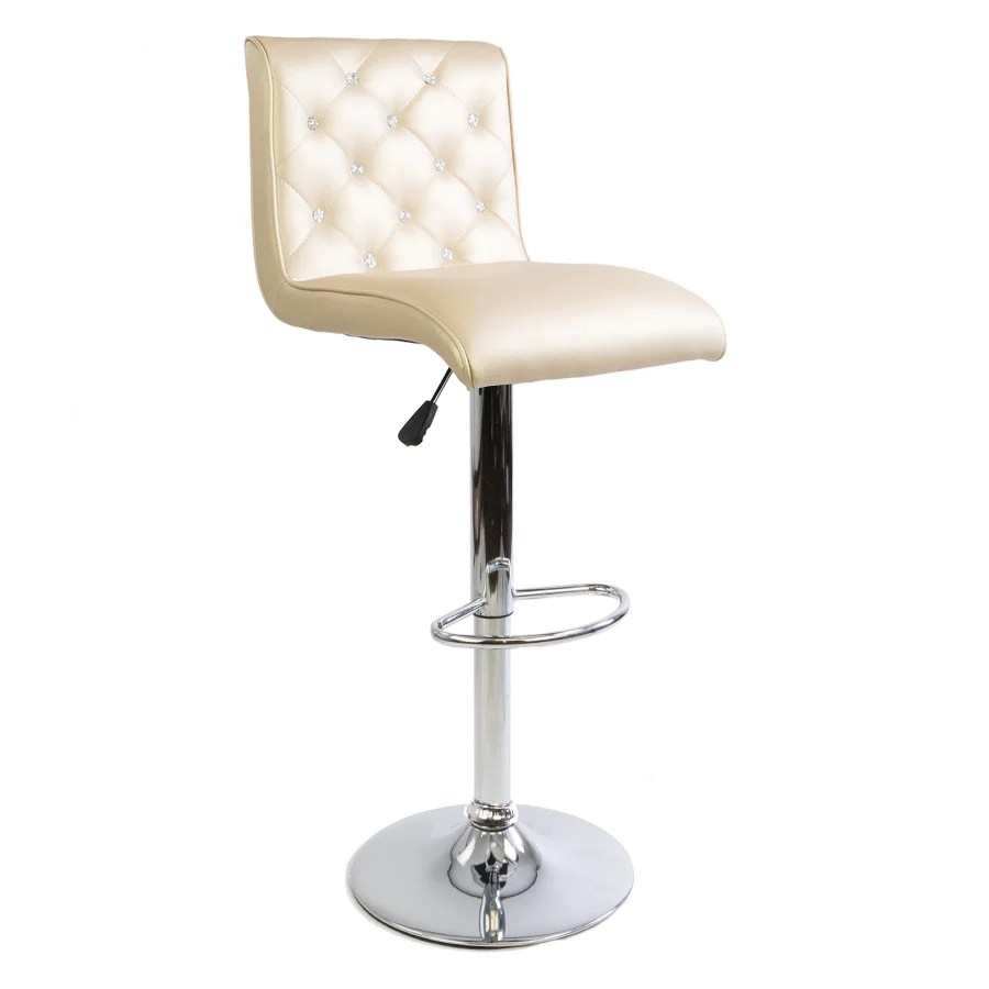 Tufted Vanity Chair Elizabeth Crystal Tufted Vanity Stool