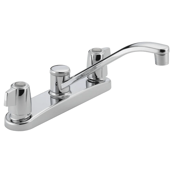 peerless two handle kitchen faucet without side spray p221lf central plumbing and heating supply co inc