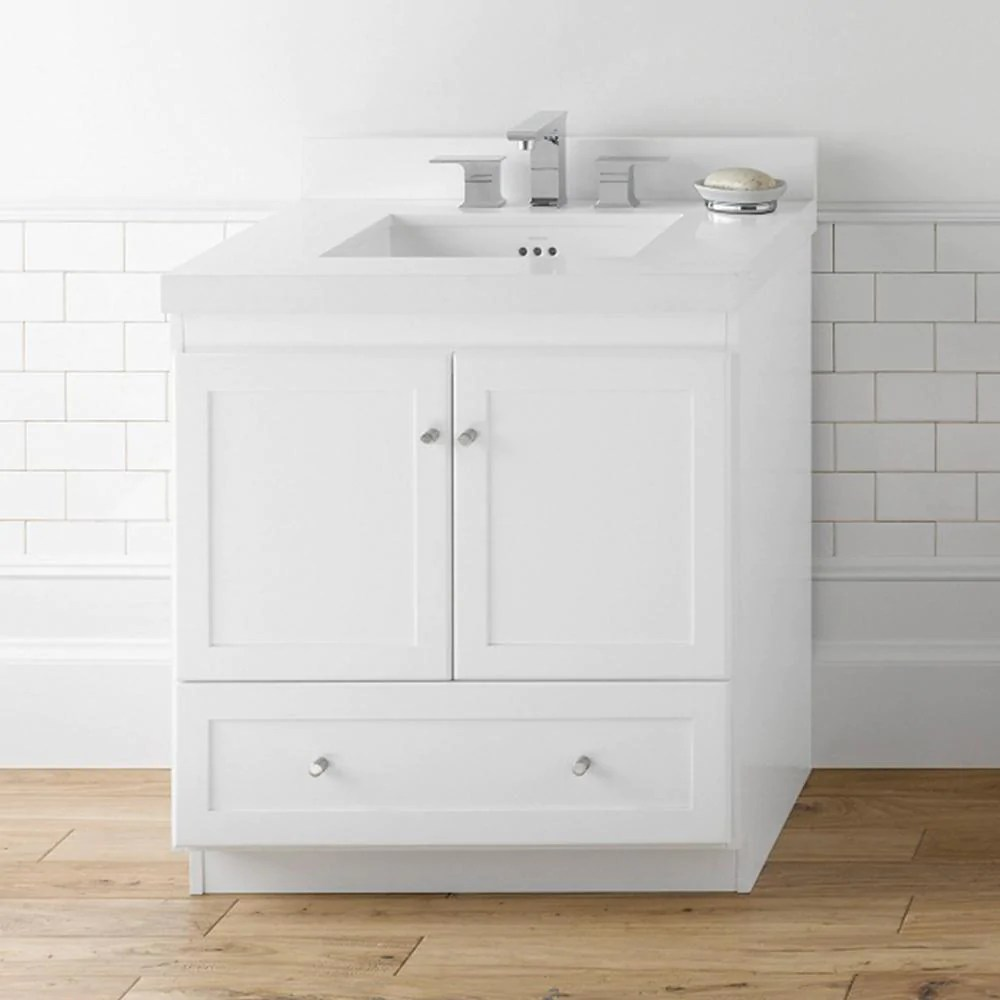 30 Shaker Bathroom Vanity Cabinet Base