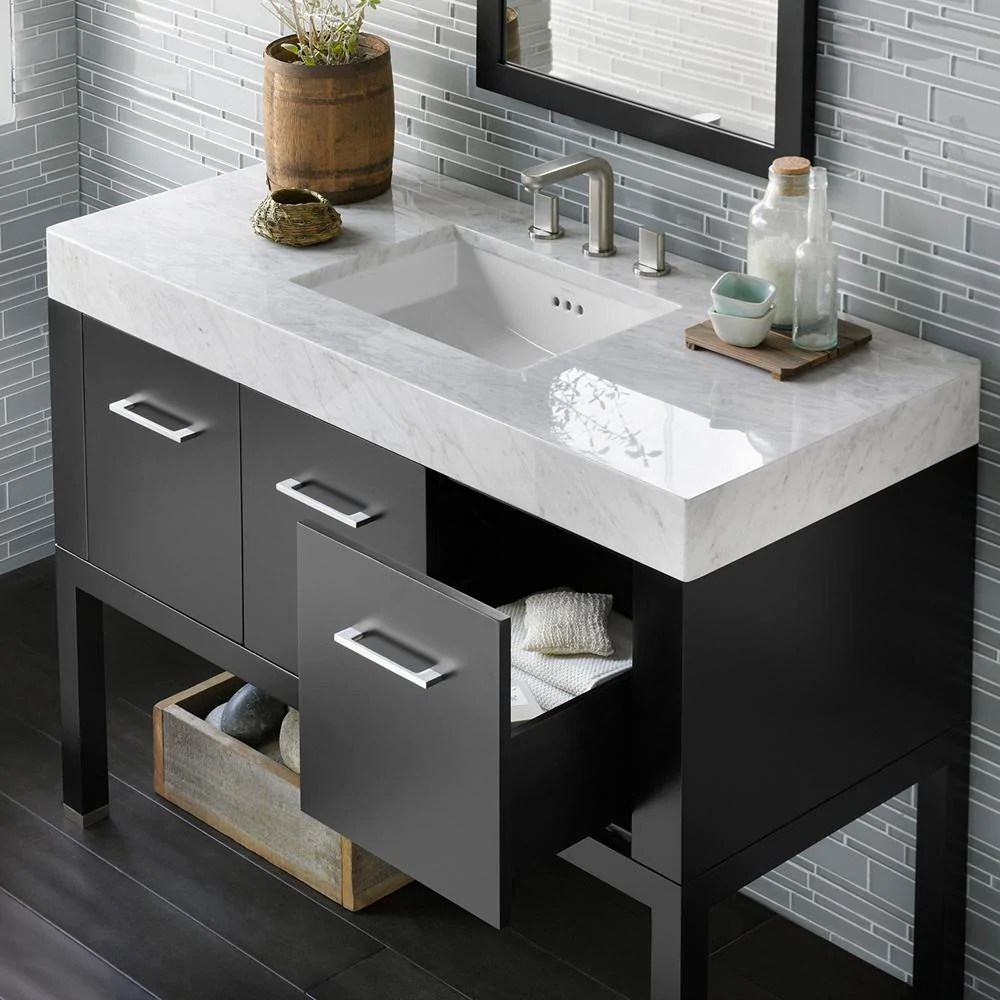48 x 22 WideAppeal Marble Vanity Top  4 Thick