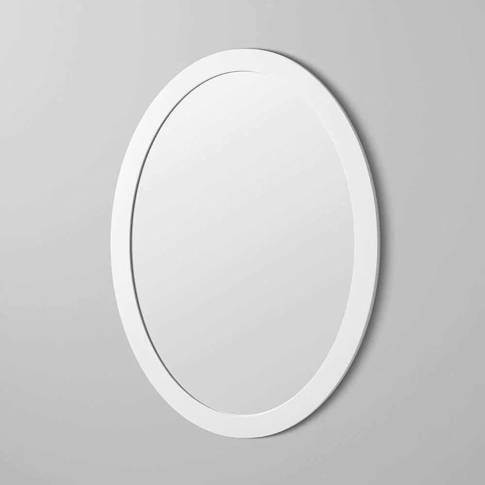 23 Contemporary Solid Wood Framed Oval Bathroom Mirror