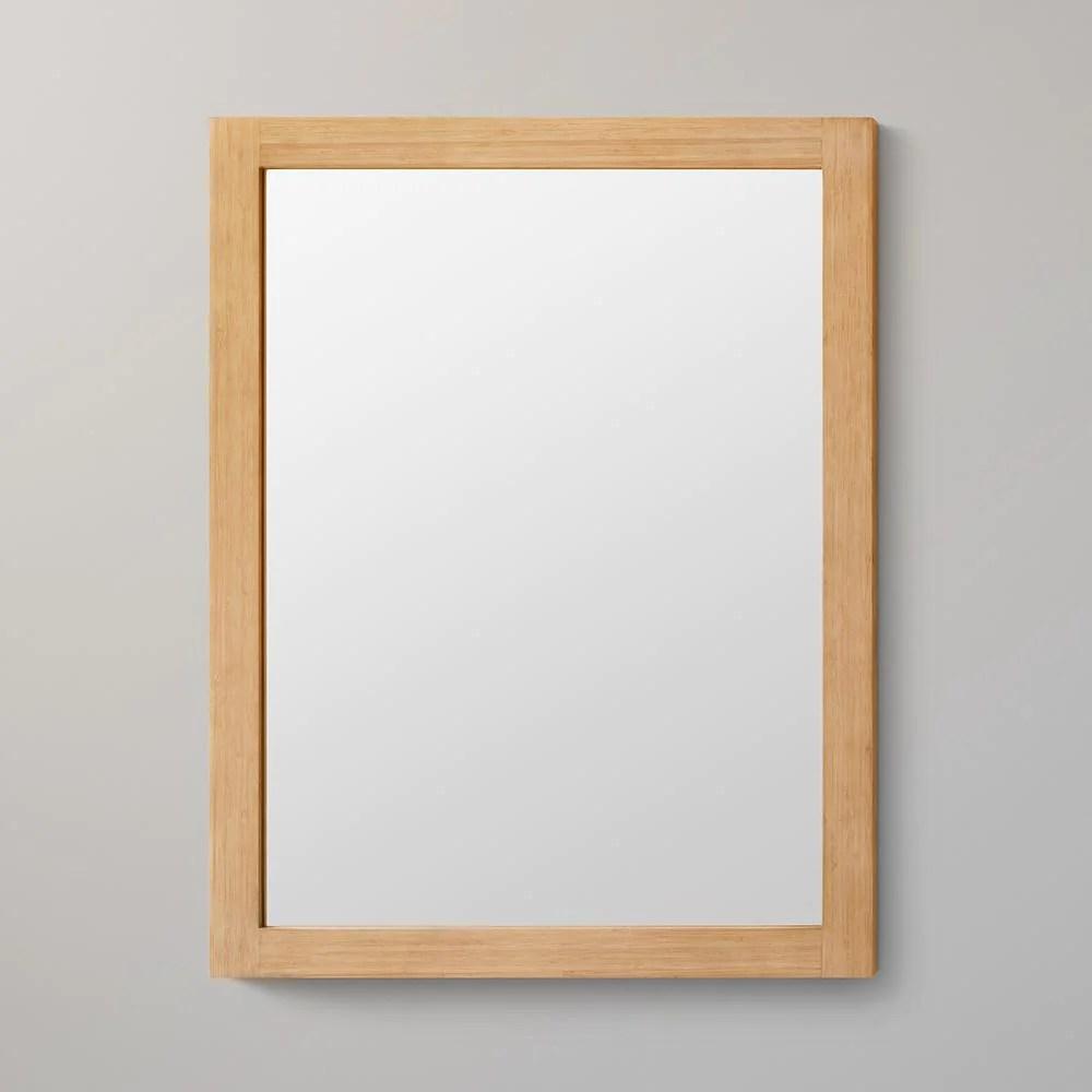 24 Alina Contemporary Solid Wood Framed Bathroom Mirror