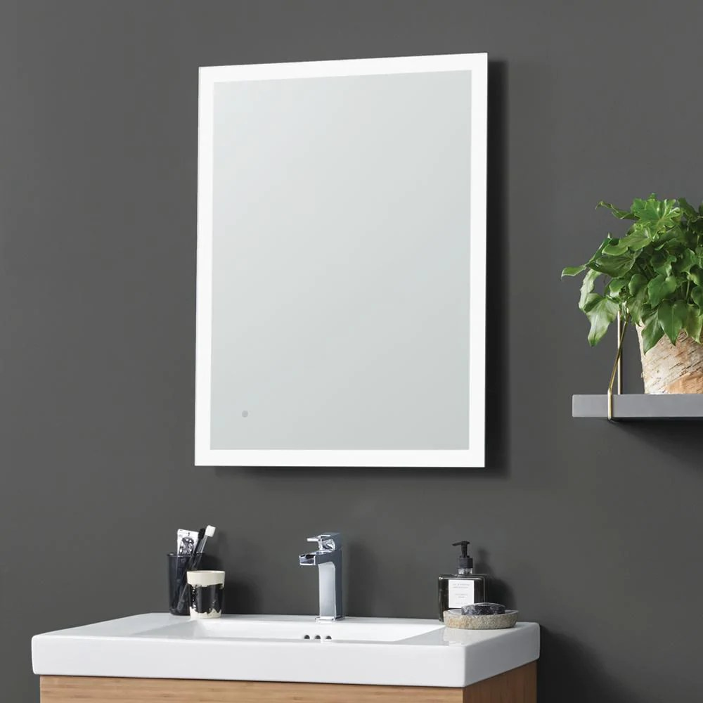 24 Webster Contemporary Metal Framed Bathroom Mirror with