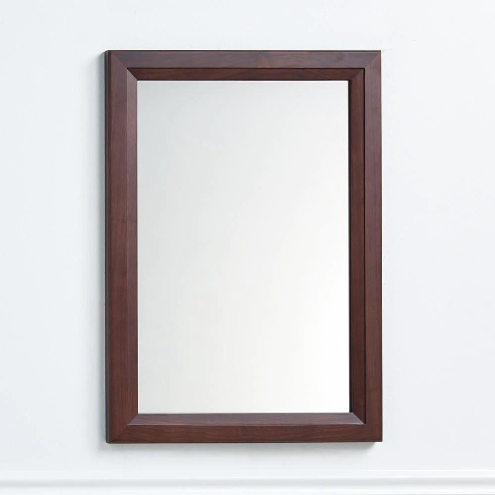 24 Reuben Transitional Solid Wood Framed Bathroom Mirror