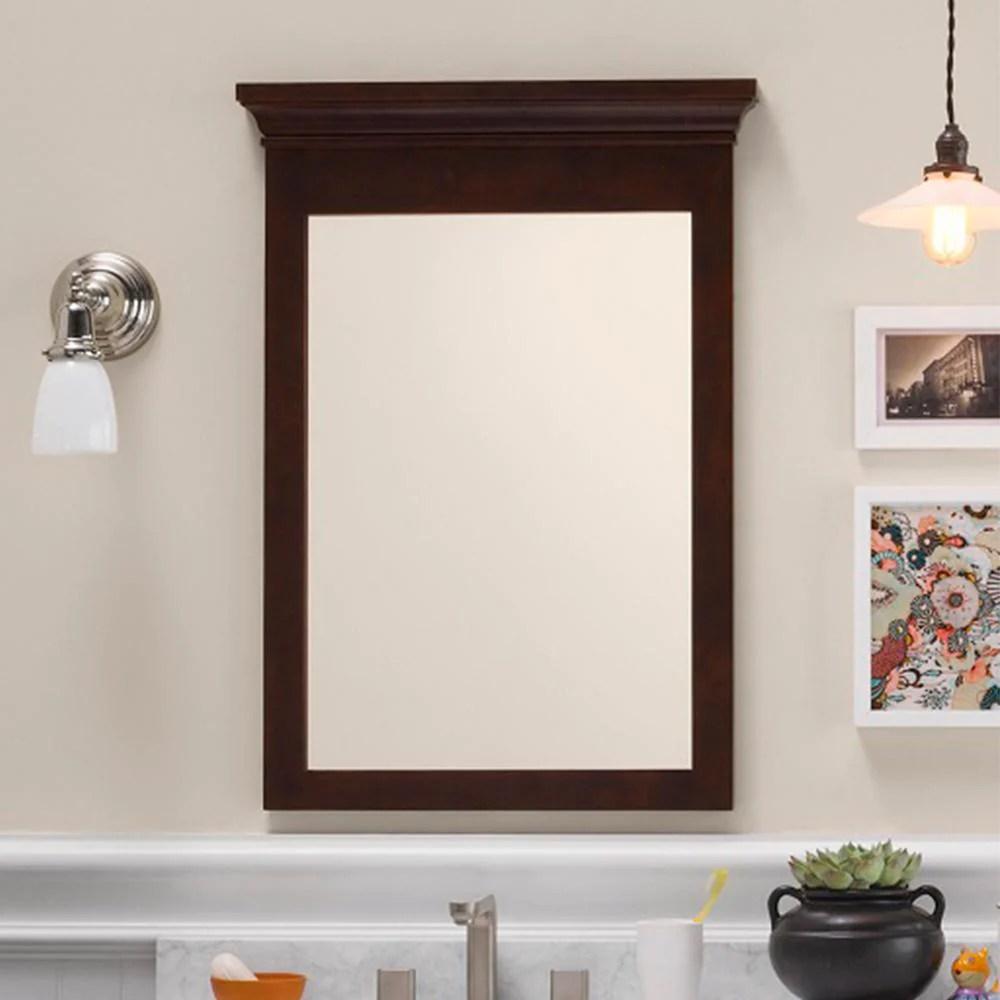 24 Bryant Transitional Solid Wood Framed Bathroom Mirror