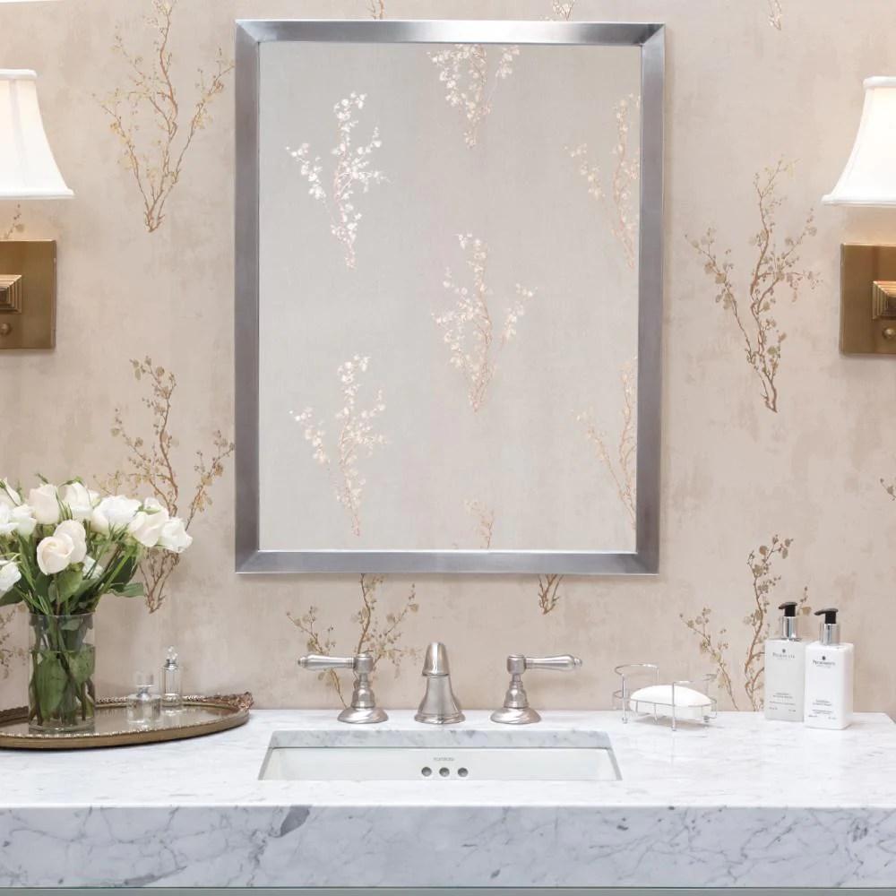 23 Emile Contemporary Metal Framed Bathroom Mirror