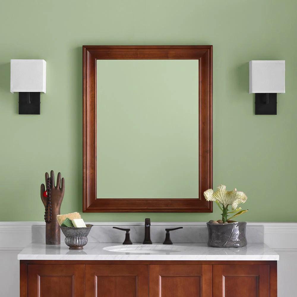 27 William Traditional Solid Wood Framed Bathroom Mirror