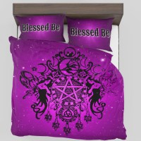 Wicca blessed be Bedding Set - Mofotee Inc.