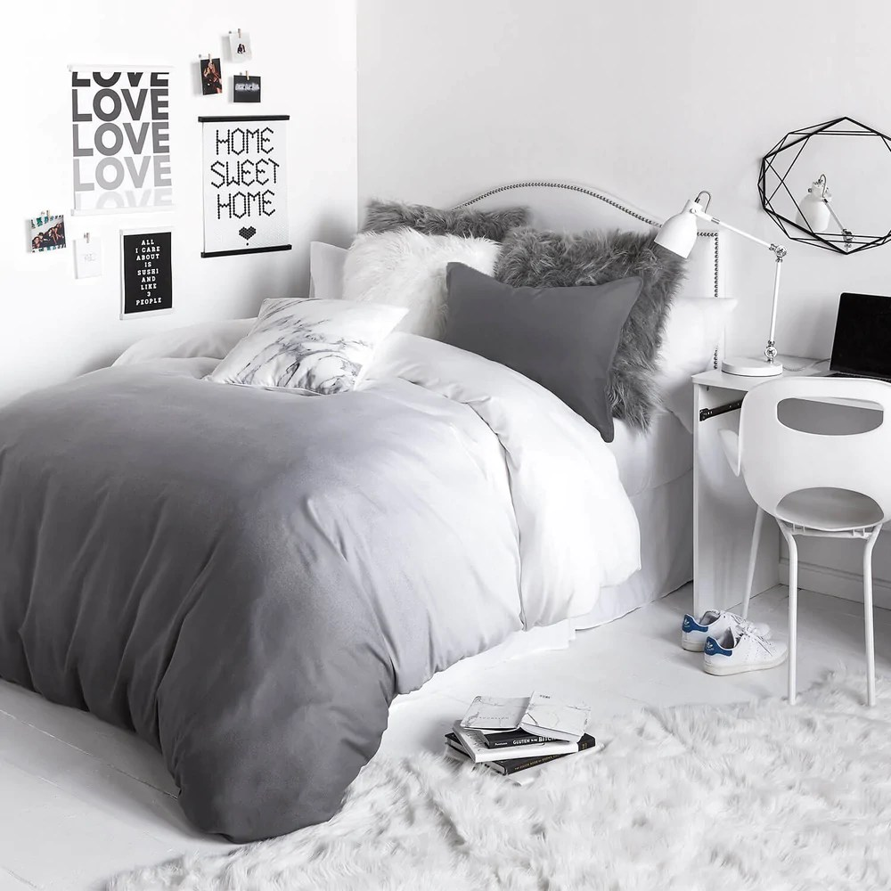 grey ombre duvet cover and sham set twin