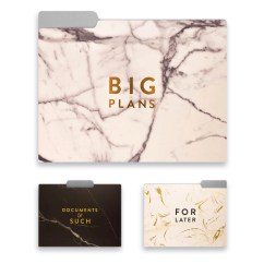 Marble Living Room Furniture Cafe Bar Gallery File Folder Collection - Set Of 9– Dormify