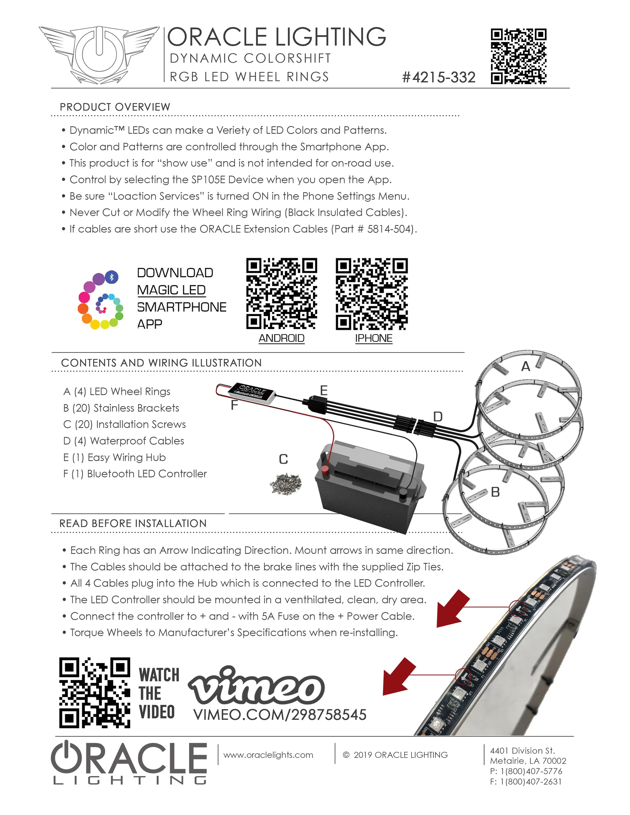 hight resolution of oracle led wheel ring kit install guide