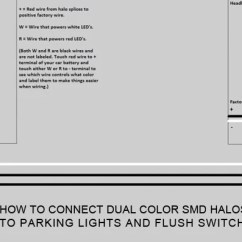 Can Light Wiring Diagram 94 Honda Accord Fuse Box Halo Faq Oracle Lighting How To Connect Dual Color Smd Halos Parking Lights And Flush Switch Led