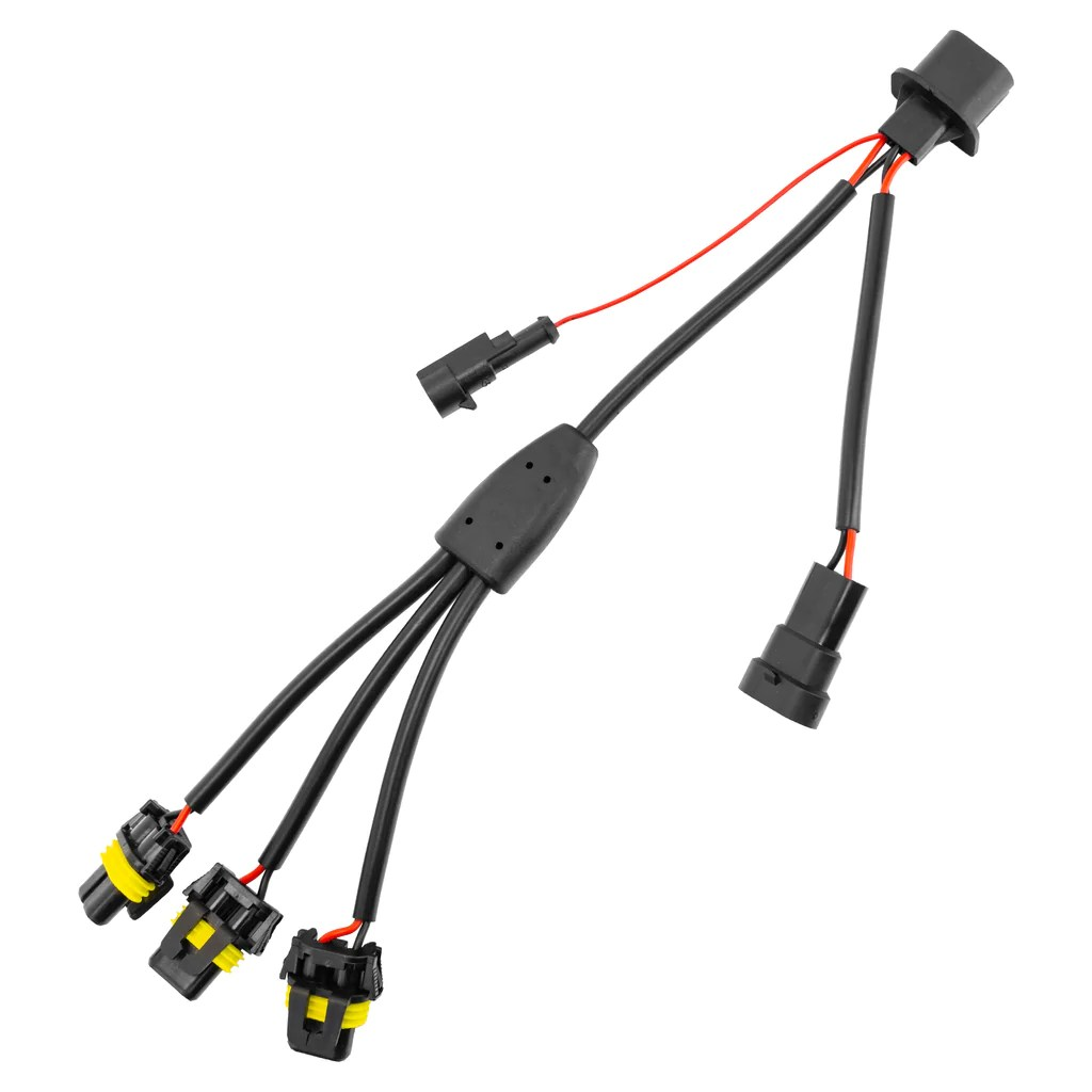 oracle vector replacement headlight wiring harness [ 1024 x 1024 Pixel ]