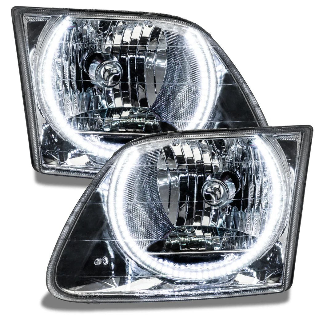 medium resolution of 1997 2003 ford f 150 250 pre assembled headlights chrome oracle lighting