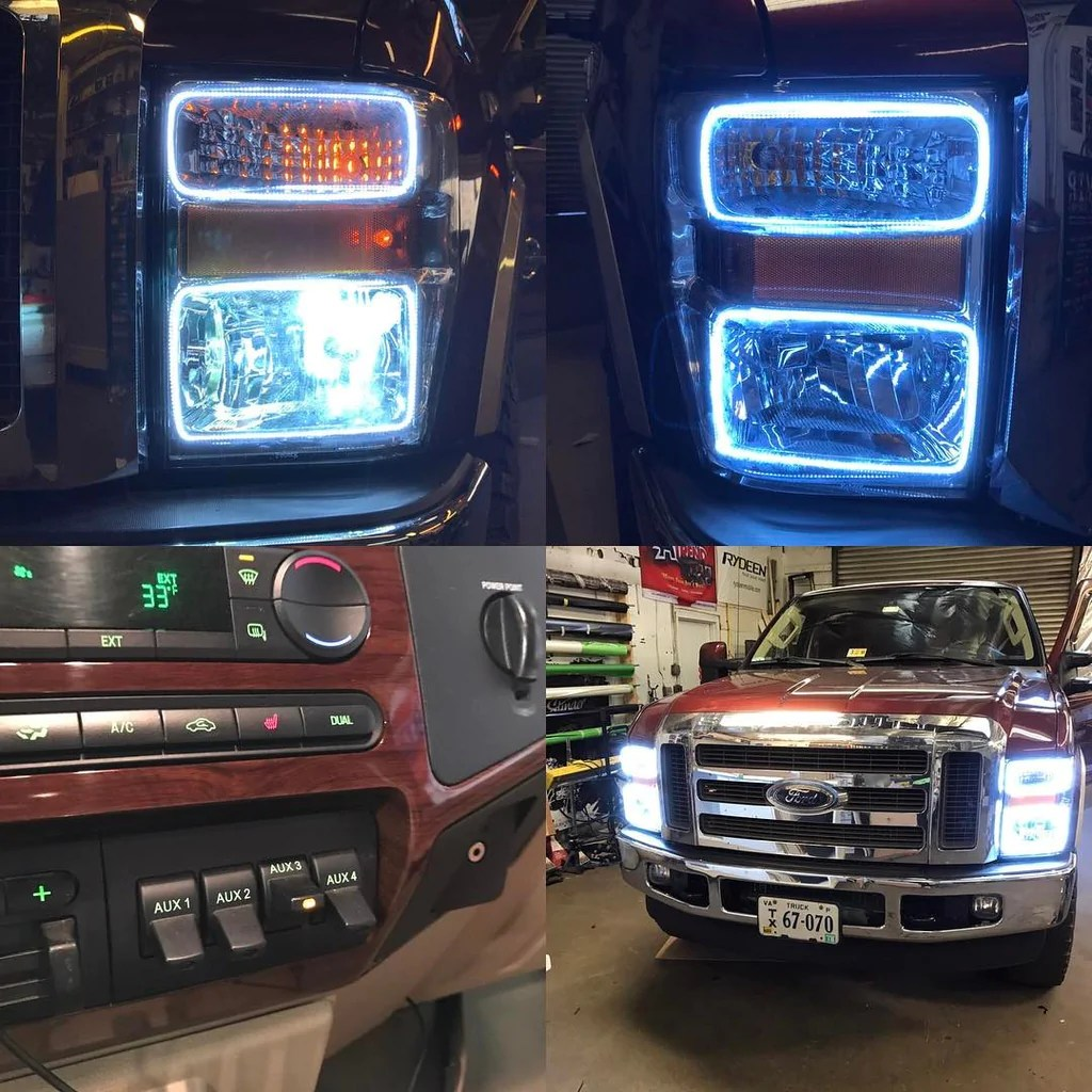 2008 2010 ford f250 f350 oracle halo kit [ 1024 x 1024 Pixel ]
