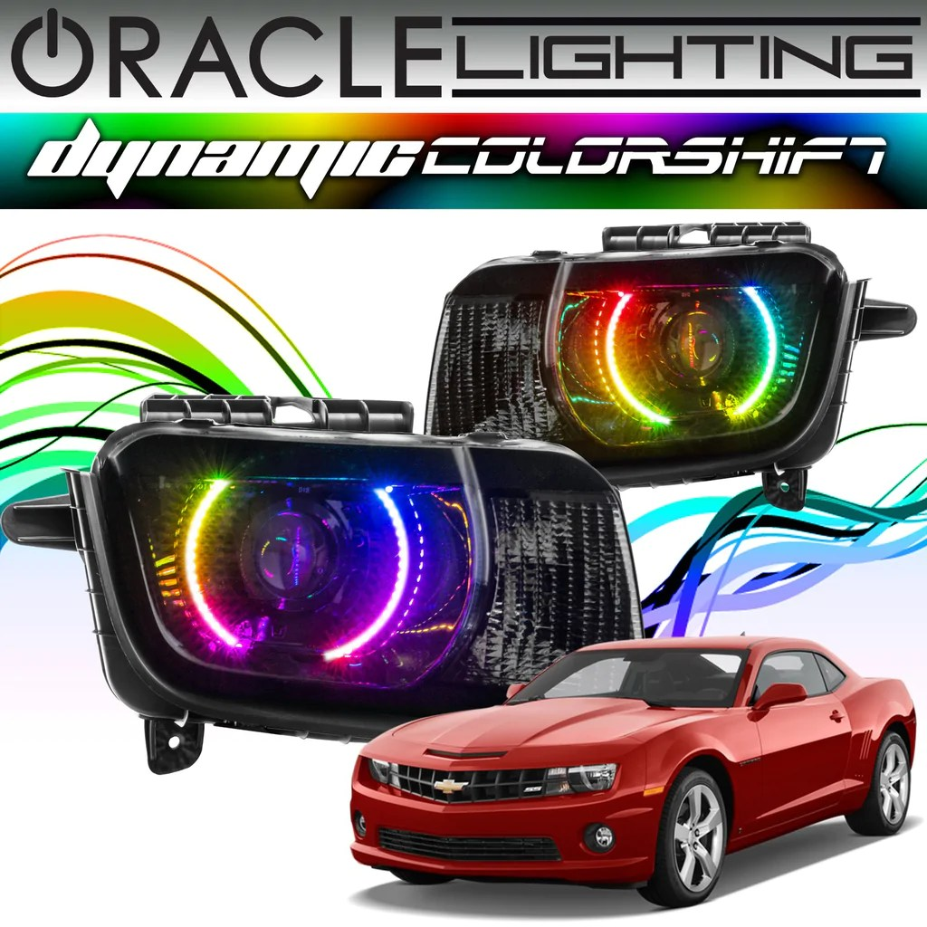 2010 2013 chevrolet camaro oracle dynamic colorshift headlight halo ki oracle lighting [ 1024 x 1024 Pixel ]