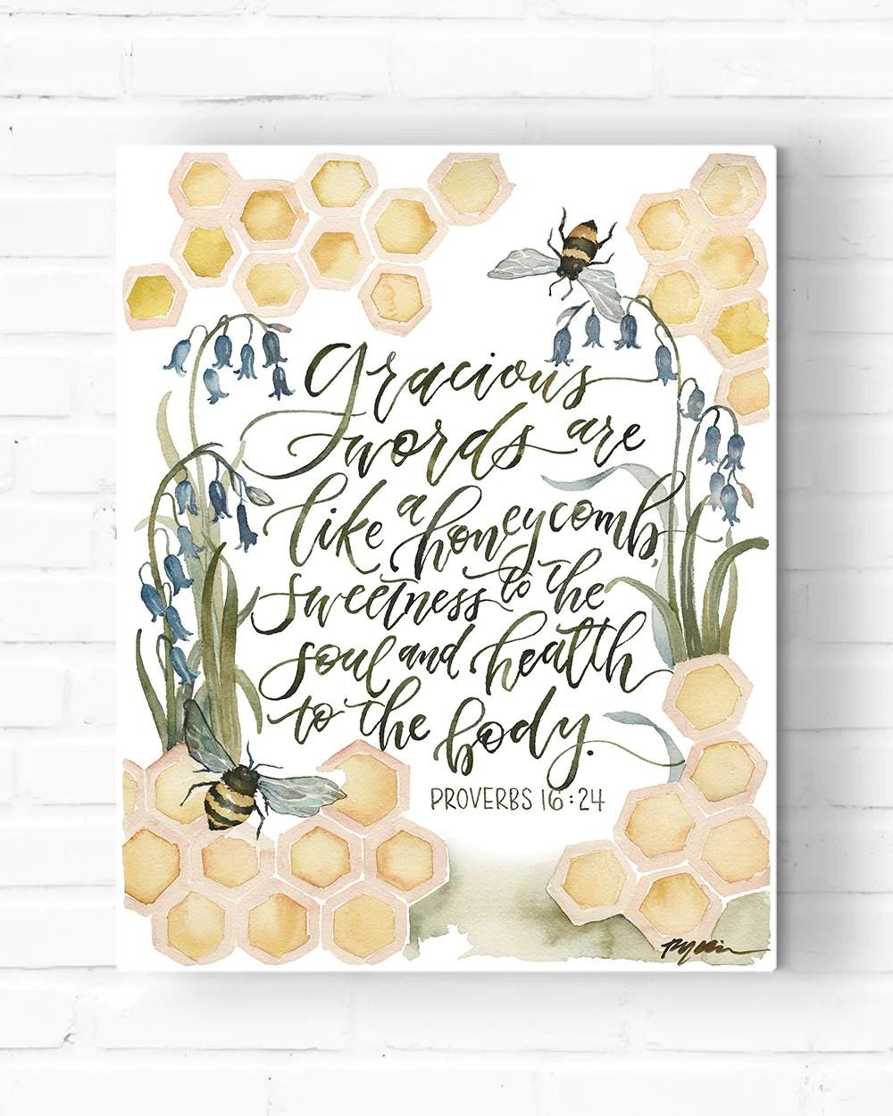 gracious words canvas