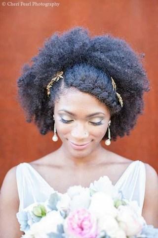 Natural Bridal Wedding Hairstyles Afrocenchix