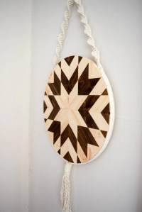 Kehaar - Round Macrame Wood Wall Art Hanging  Roaming Roots