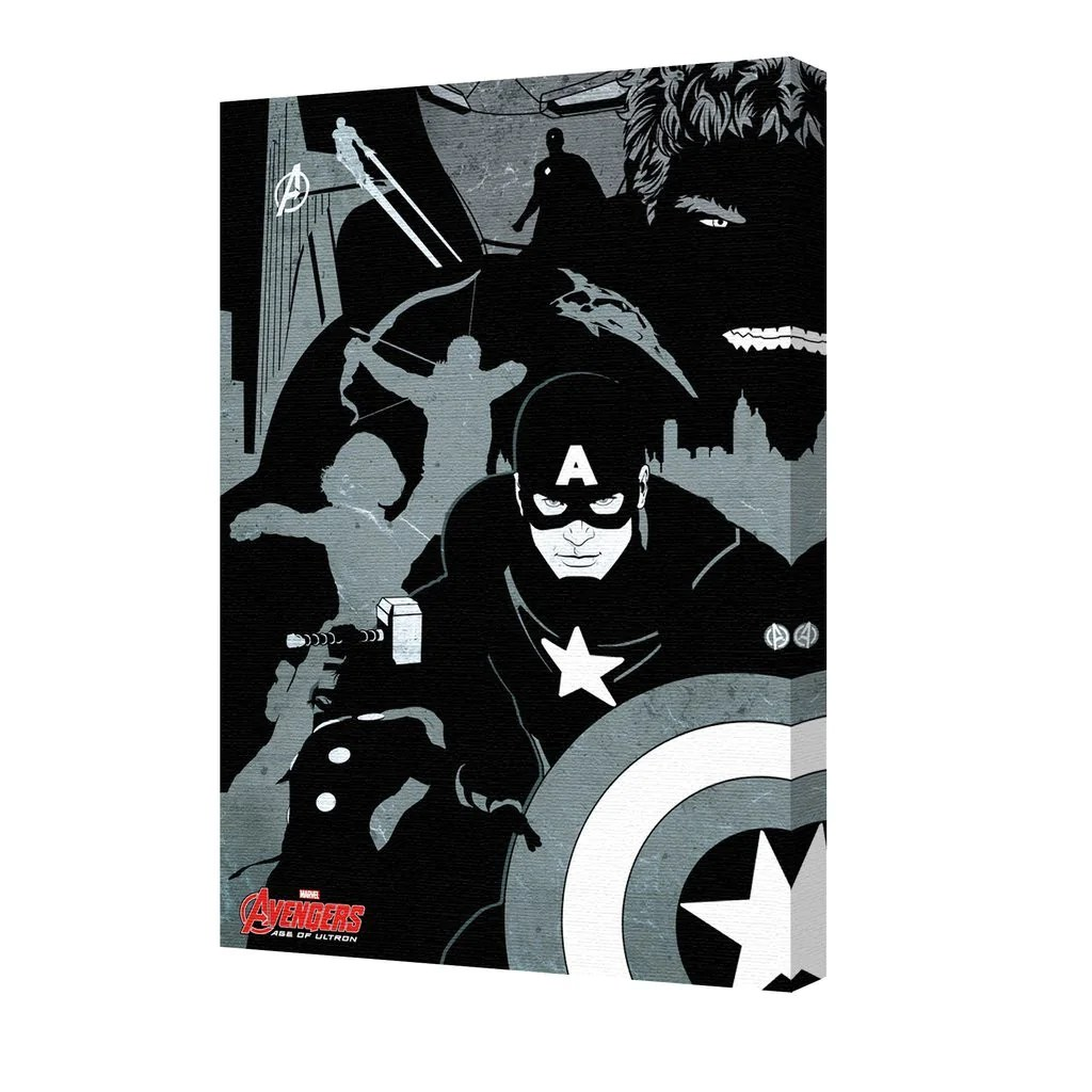 avengers black and white