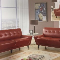 Red Living Room Sets Storage Cupboard Contemporary Leather Set Foodgles Marketplace