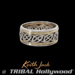 Isla Eternity Ring Celtic Knot Ring Band For Men By Keith Jack