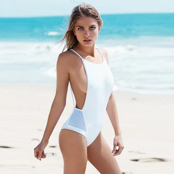 Girls Net Yarn One Pieces Bikini Sexy Swimwear