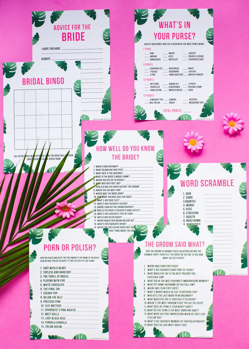 Hen Party Home Game Ideas