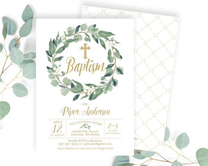 Quick Baptism Invitations