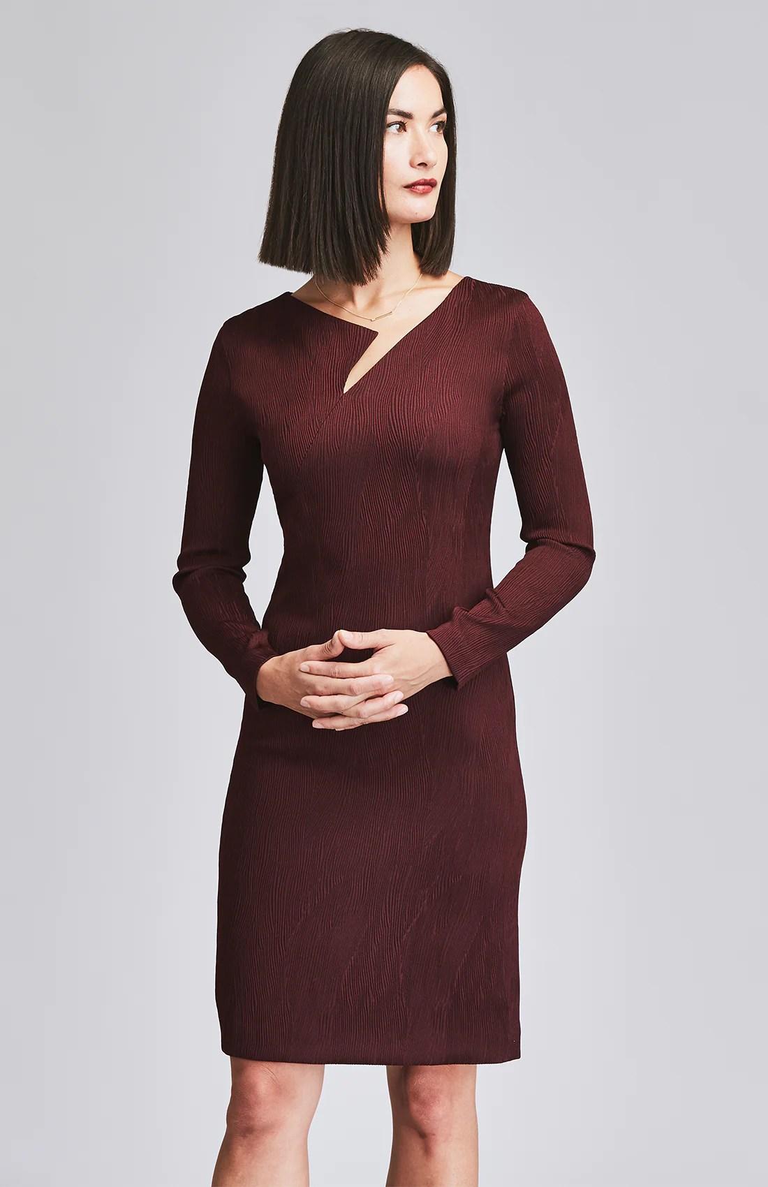 Assiduous Desk-dinner Dress Burgundy Rose & Willard