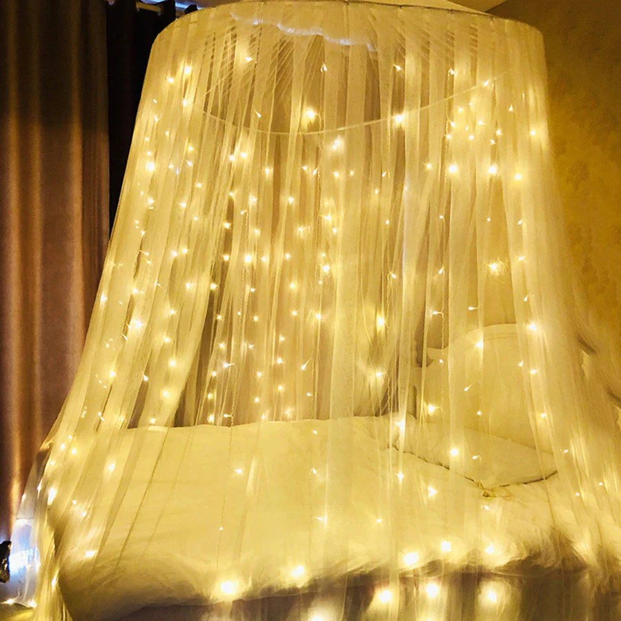 3m x 3m usb warm white curtain fairy lights 300 led string lights with remote controller
