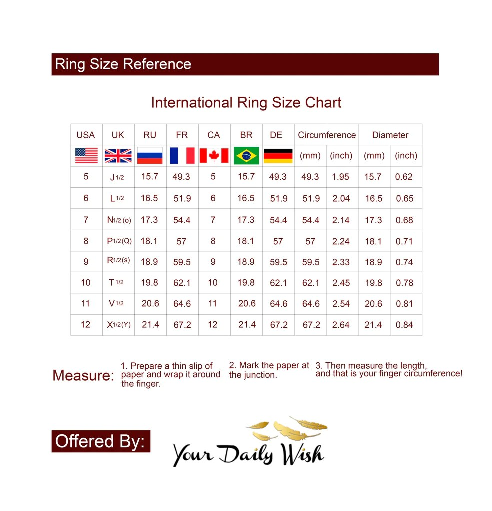 Ring sizing chart also  your daily wish rh yourdailywish