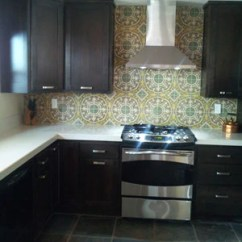 Cement Tile Kitchen White Knobs For Cabinets An Eye Catching Cuban Backsplash Avente
