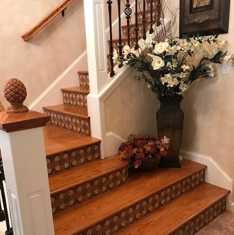 Favorite Stair Riser Tile Designs And Tips – Avente Tile | Stairs Tiles Design For Home | Readymade Staircase | Duplex House | Style Kerala | Railing | Porcelain