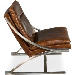 Steel Lounge Chair Ruched Covers Leather And English Country Home