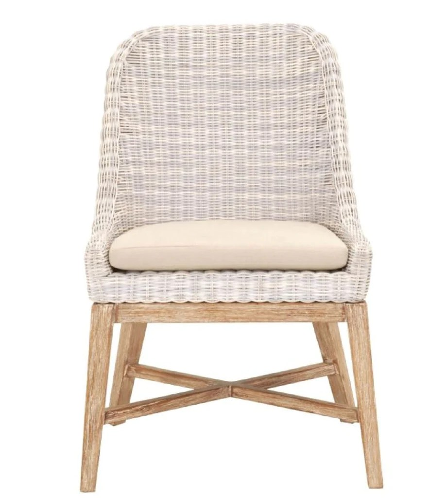 Wicker Outdoor Dining Chairs Outdoor Dining Chair With Mahogany Base