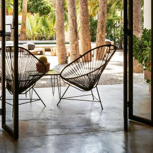 acapulco chair nz brown leather slipper kiwi living