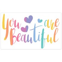 """You are Beautiful"" Pack of stickers  Unicorn Smiles"