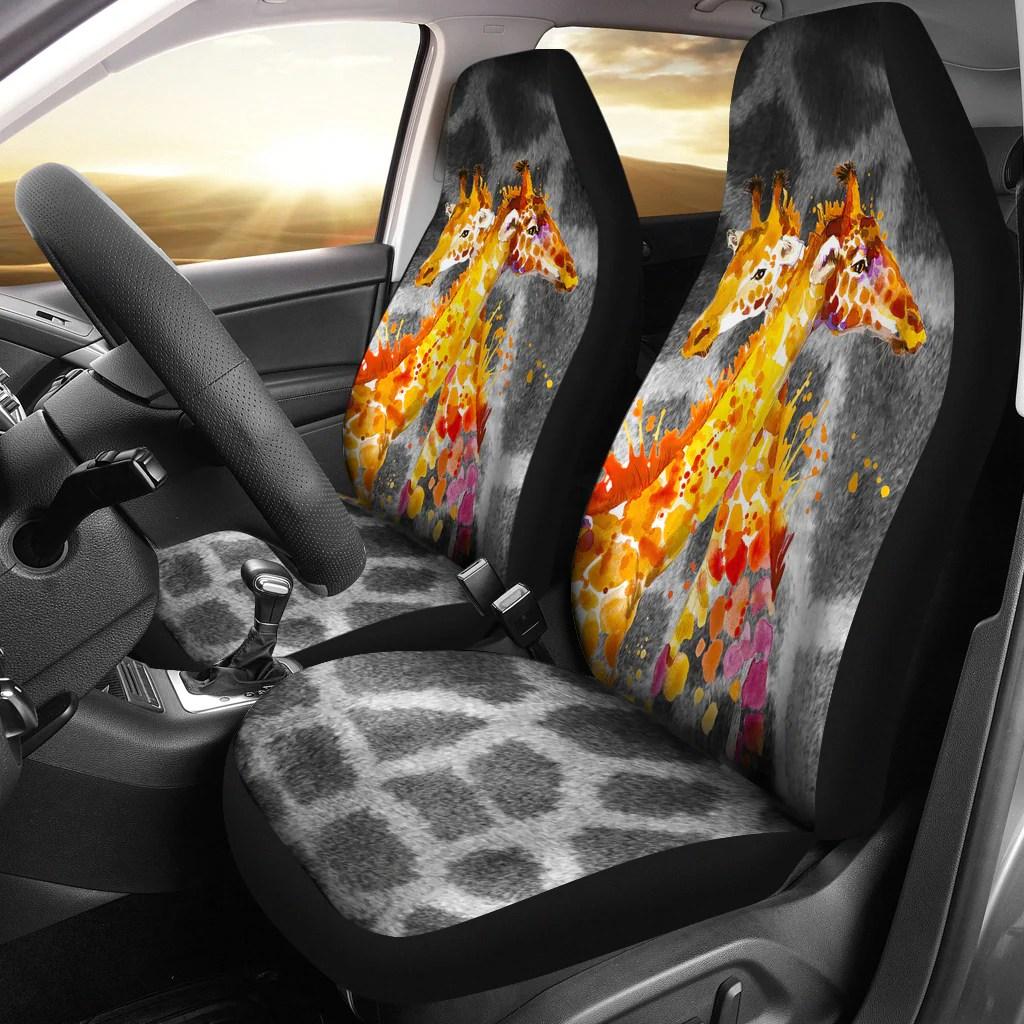 Giraffe Love Car Seat Covers Elephantsity