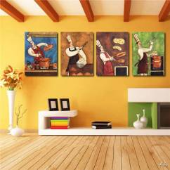 Art For Kitchen Play Kitchens Kids Canvas Painting Funny Chef Wall Room Dinner Tap To Expand