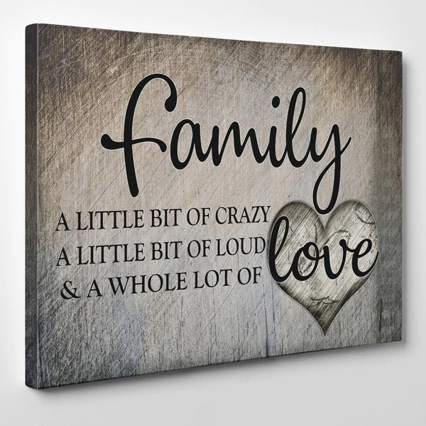 family love premium canvas