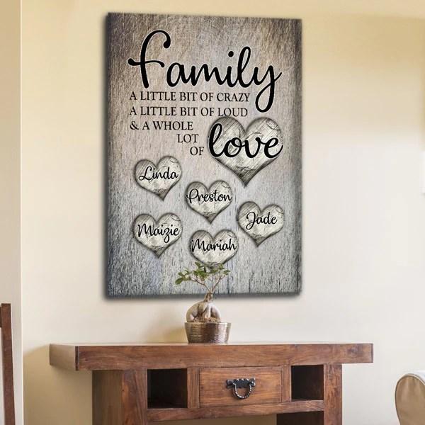 personalized family love premium