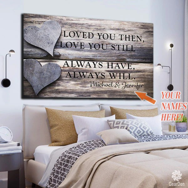 personalized couples canvas wall