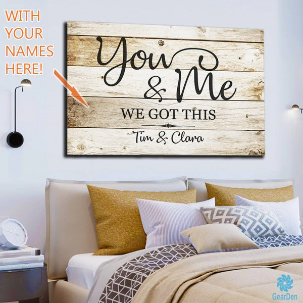 Personalized You And Me We Got This Premium Canvas