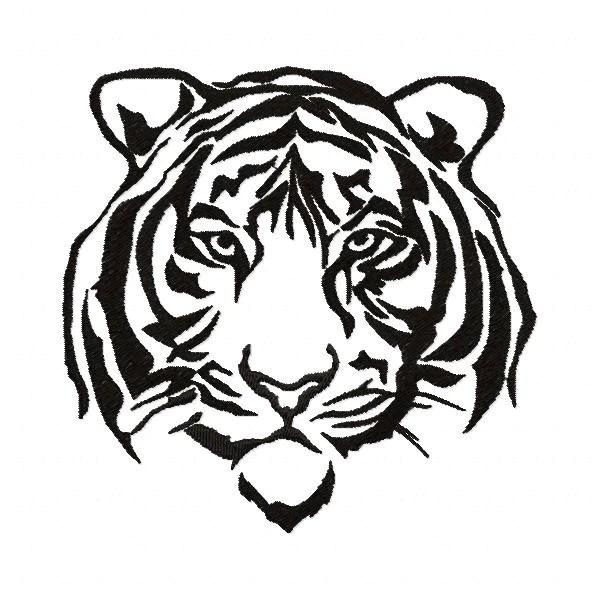 s016 silhouette tiger